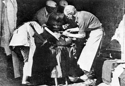 Norman Bethune operating in China.